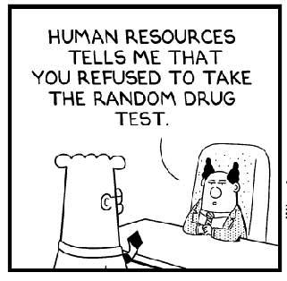 """""""人力资源部说随机挑选了你参加药品测试,你不干?&quot"""