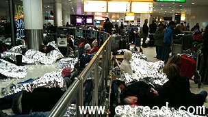 Many people were forced to sleep at Heathrow overnight