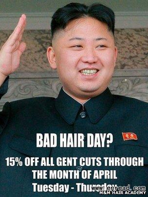 英理发店用金正恩头像做海报遭警告