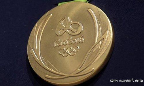里约奥组委公布2016奥运奖牌