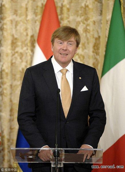 荷兰国王将对中国进行工作访问