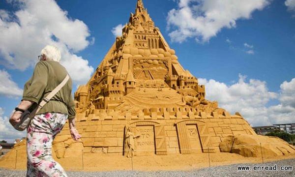 世界最高沙堡在丹麦揭幕